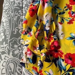 A. Byer Tops - Yellow floral blouse